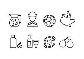 Conjunto de ícones da Espanha
