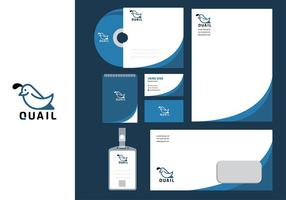 Quail Simple Corporate Identity Template Free Vector