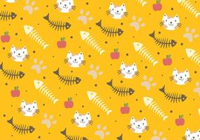 Fish Bone and Cat Pattern vector