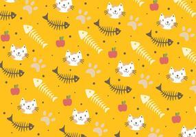 Fish Bone and Cat Pattern