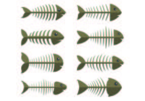 Set Of Fishbone Icons