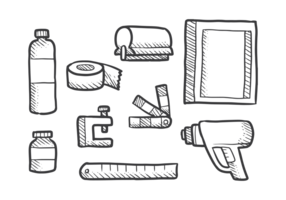 Screen Printing Icons Vector