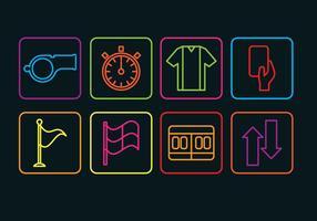 Schiedsrichter-Icons Set