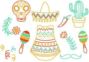 Libre Doodle Vectores Mexicano