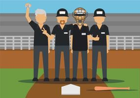 Umpire vector illustration