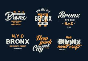 vecteur badges bronx