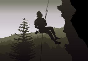 Rappelling Free Vector