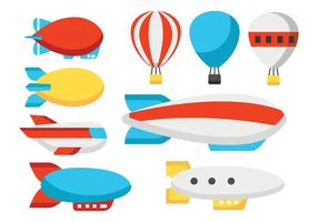 Gratis Dirigible Ballon Vector