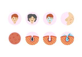 Free Pimple Icons vector