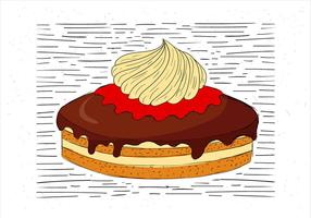 Illustration de gâteau à la main dessiné à main libre