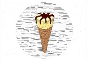 Gratis handdragen Vector Ice Cream Illustration