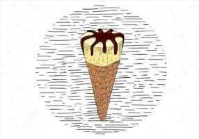 Free Hand Drawn Vector Ice Cream Illustration