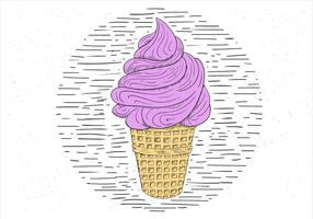 Free Hand Drawn Vector Ice Cream Illustration