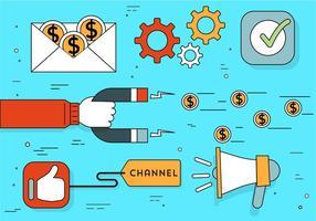 Gratis planlösning Vector Business Elements och ikoner