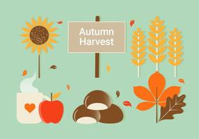 Free Flat Design Vector Autumn Elements Illustration