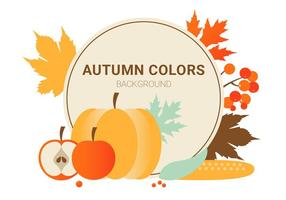 Free Flat Design Vector Autumn Colours