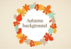 Free Flat Design Vector Autumn Greeting Illustration