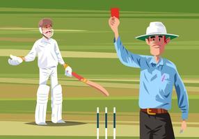 Cricket Árbitro Vector
