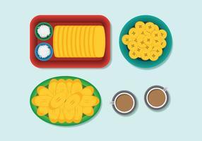 Vecteurs alimentaires en banane en tranches