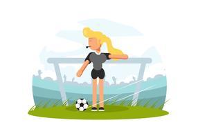 Vector de árbitro de fútbol