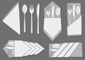 Modelos de servilletas vectoriales gratis