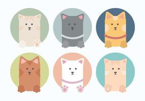 Insieme vettoriale di gatti carino