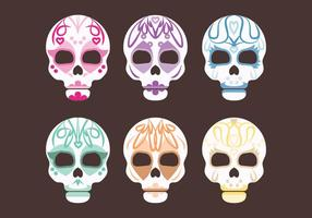 Vector Set of Sugar Skulls