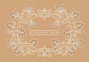 Vector Fall Decorative Frame