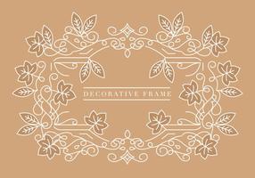 Vector Fall Decorative Frame