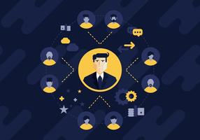 Professional Referral and Networking Illustration