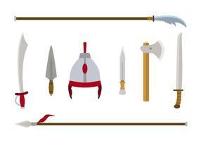 Planas mongol armadura vectores