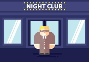 Bouncer at Club Illustration Vector