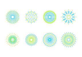 Line Art Fireworks Free Vector