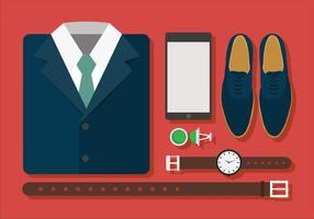 Man Suit Set Free Vector