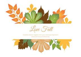 Free Flat Design Vector Autumn Love
