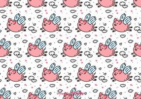 Flying Pig Vector Pattern