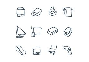 Icônes de serviette