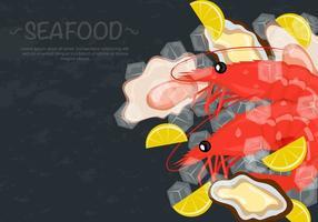 Fresh Prawns And Shellfish Seafood Vector