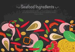 Seafood Ingredients With Pasta