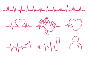 Vector de la línea del ritmo cardíaco