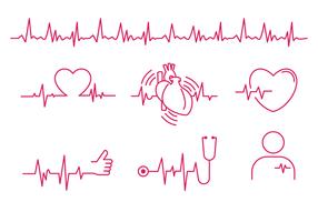 Heart Rhythm Line Vector