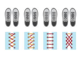 Coleção de vetores de cordas de sapato grátis