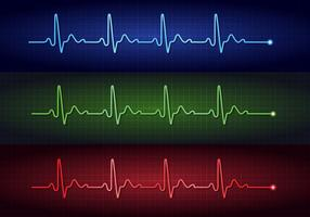 Heart Pulse Electrocardiogram Vectors