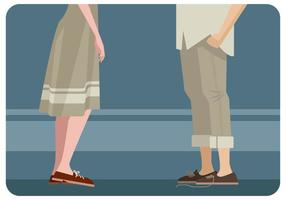 Couple With Matching Shoes Vector