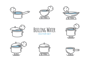 Koken Water Pictogrammen Vector