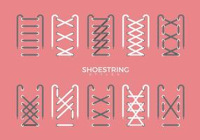Shoestring Stil Art Vektor flache Illustration