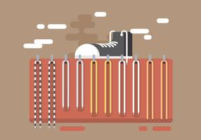 Shoe with Shoestrings Vector