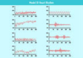 Modèle de vecteurs de rythme cardiaque