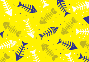 Fun Fishbone Seamless Pattern