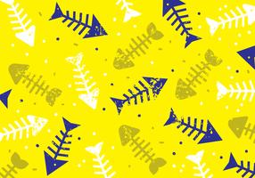 Fun Fishbone Seamless Pattern
